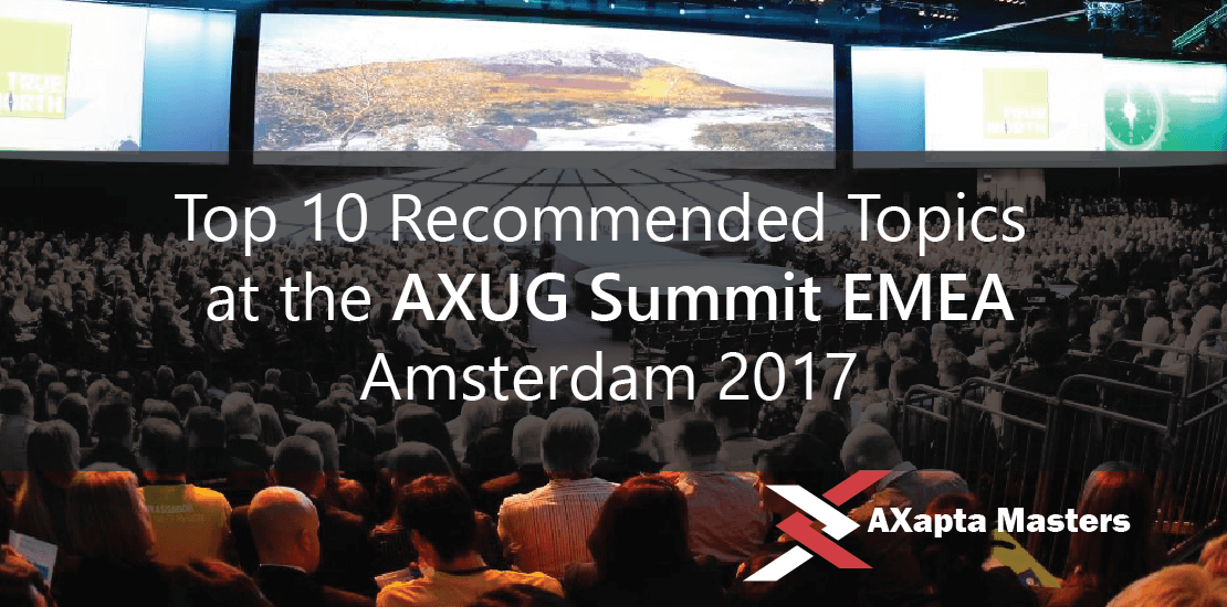 10-recommended-topics axug summit 2017