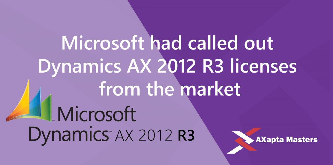 called out licences dynamics ax 2012