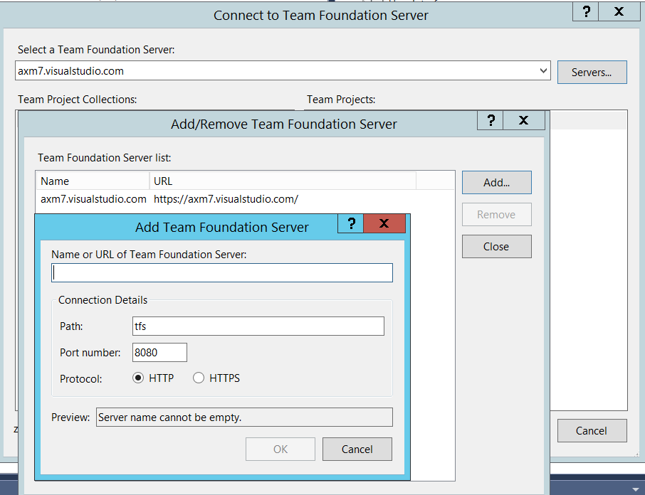 How to Set Up Team Foundation Server on Visual Studio in AX7?