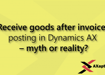 receive goods after invoice posting in dynamics ax - myth or reality