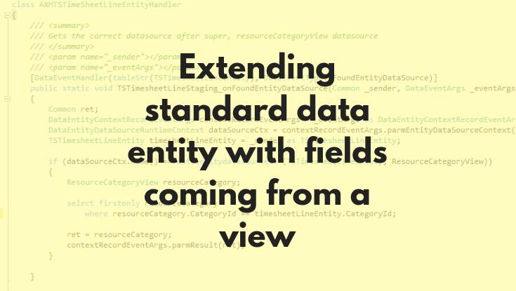 Extending standard data entity